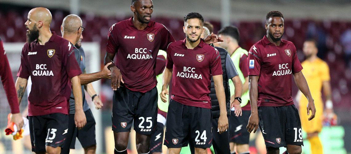 SAL - 29 08 2021 Salerno Stadio Arechi. Salernitana Roma Serie A. Nella foto la delusione finale della salernitana. Foto FP reporter